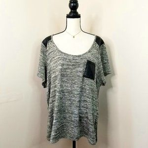 Lane Bryant metallic gold knit tee shirt top 3X 26